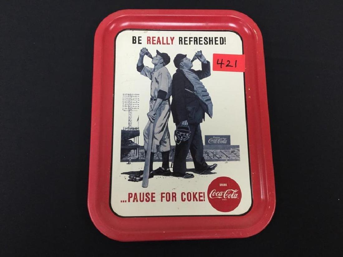 Baseball Theme COCA-COLA Serving Tray