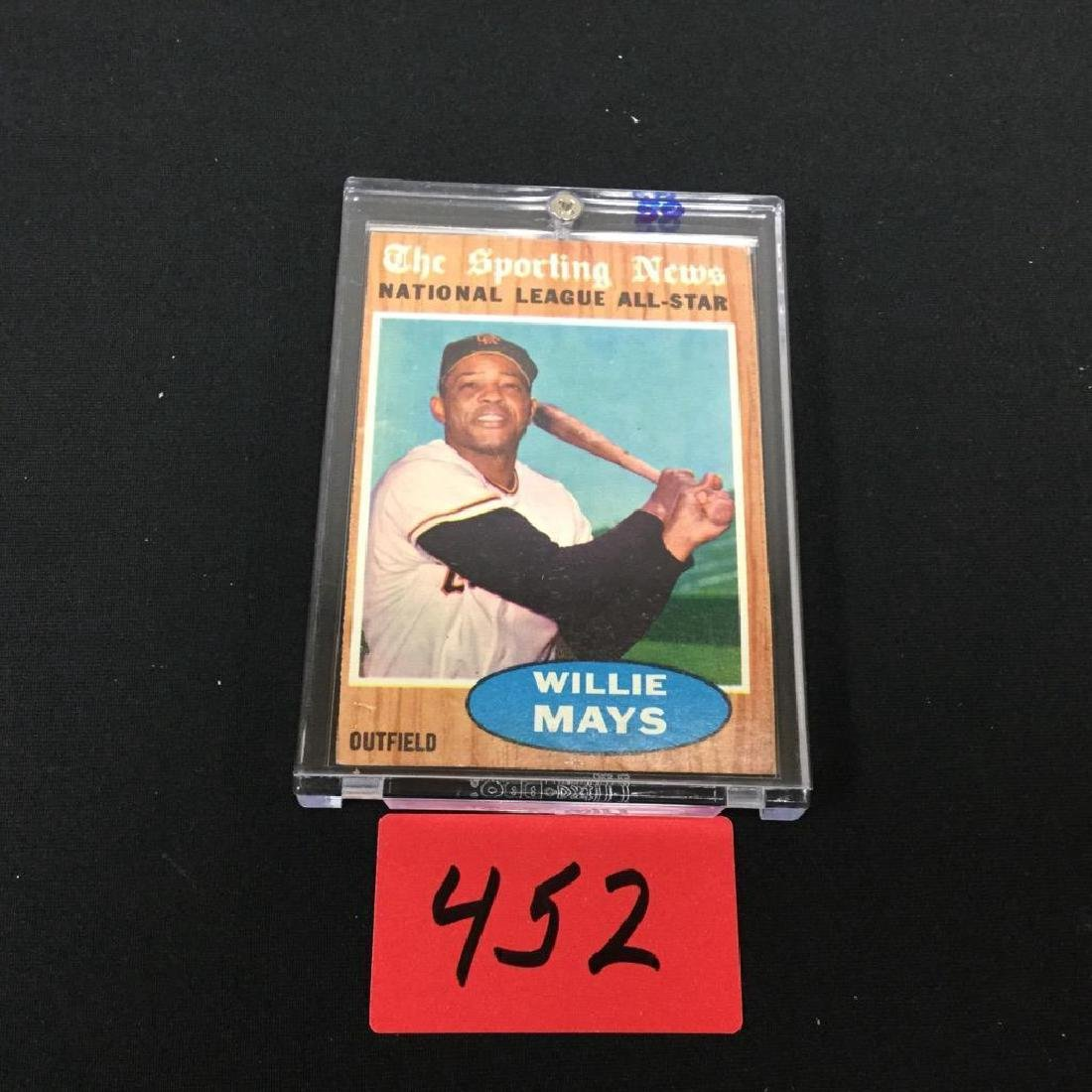 1962 TOPPS WILLIE MAYS National League All-Star