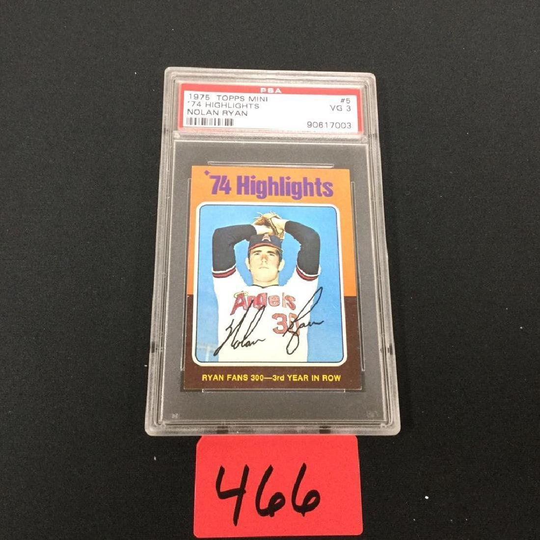 1975 TOPPS MINI '74 Highlights' NOLAN RYAN PSA #5 VG 3