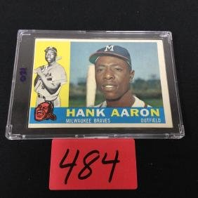 1960 TOPPS HANK AARON No. 300 nice card for any