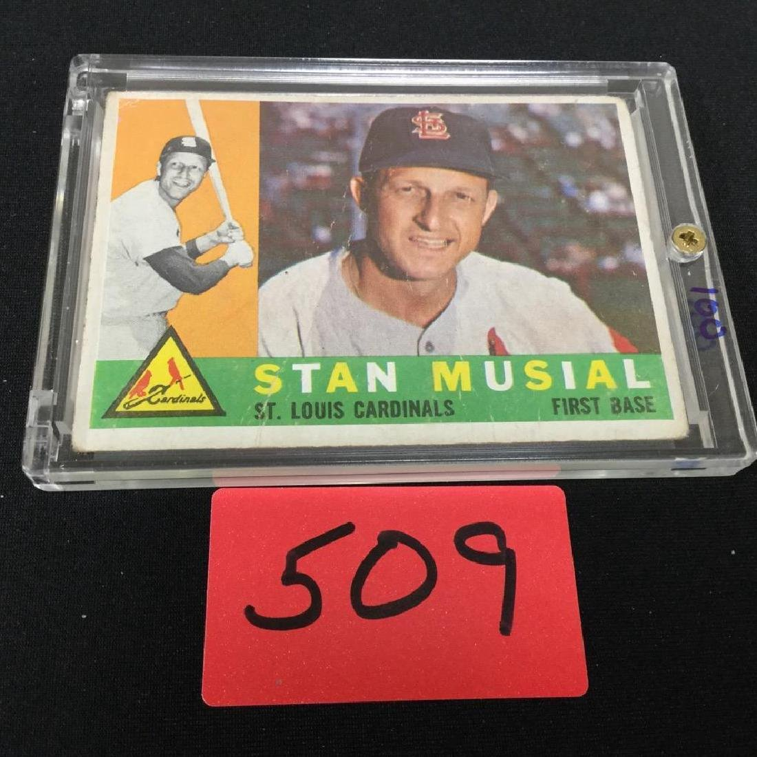 1960. TOPPS STAN MUSIAL NUMBER 250