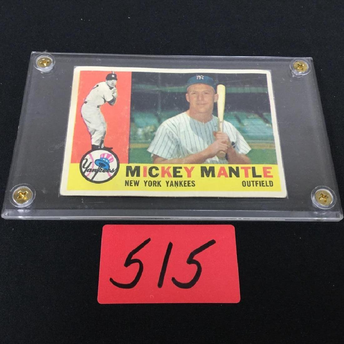 1960 TOPPS MICKEY MANTLE NUMBER 350 clean