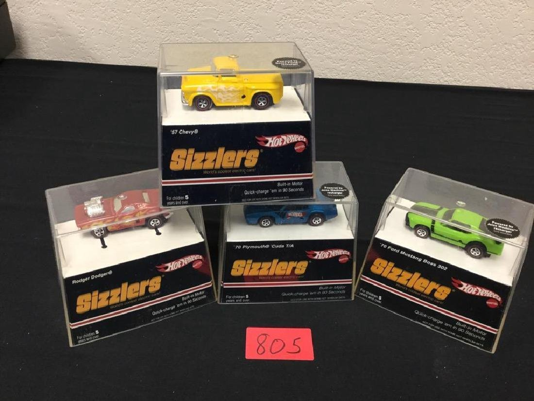 """Lot of 4, Vintage Hot Wheels """"SIZZLERS"""" UNOPENED"""