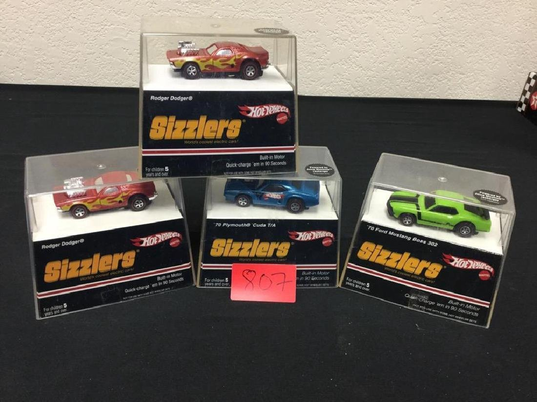 "Lot of 4, Vintage Hot Wheels ""SIZZLERS"" UNOPENED"