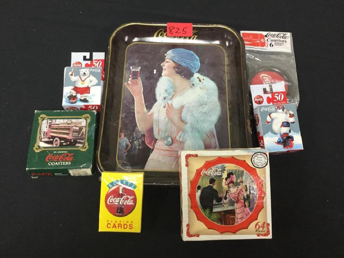 Vintage Coca-Cola Serving Tray, Coasters, Playing Cards
