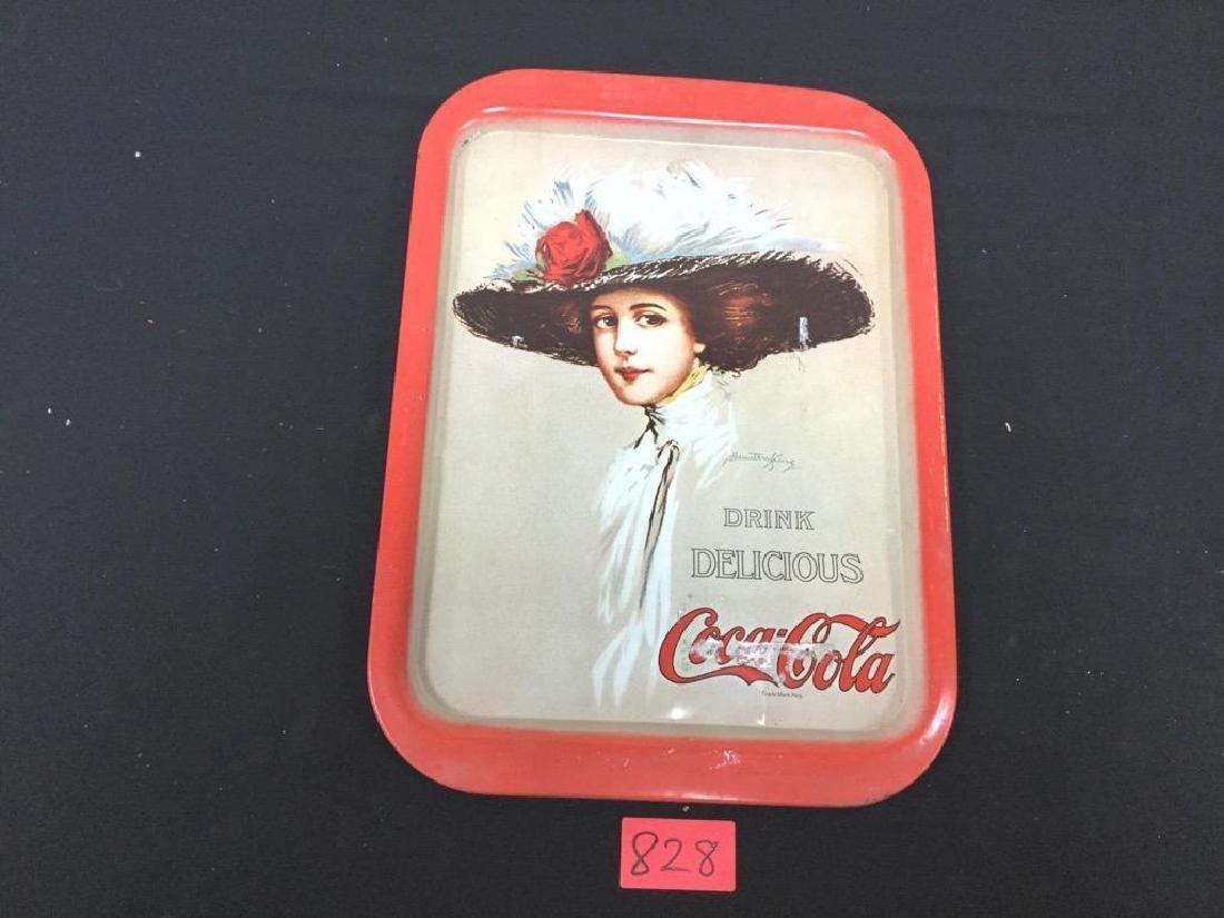 3 Count Vintage Coca-cola Metal Trays.