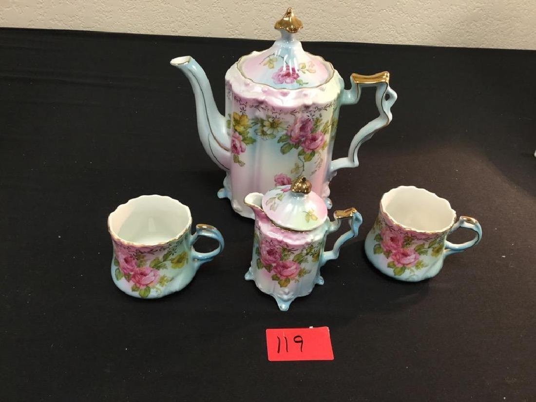 "VINTAGE ""R.S. PRUSSIA"" 6 Piece TEA SET 2 Cups, 1"
