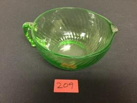 1930s GREEN SWIRL MIXING BOWL pnq. This is a nice