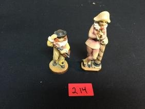 2 ANRI HANDCARVED FIGURINES. These are a must see, must