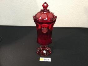 """Beautiful Vintage FOSTORIA """"RUBY RED"""" Apothecary URN."""