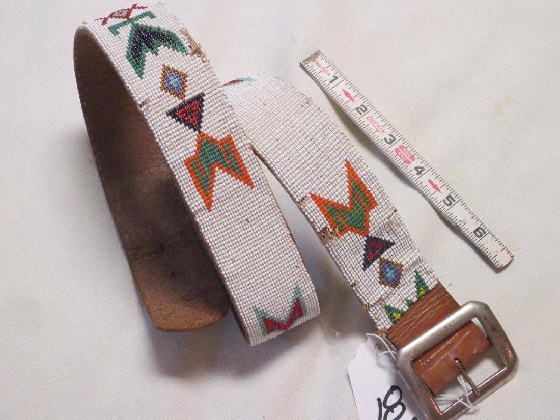 Loom bead belt