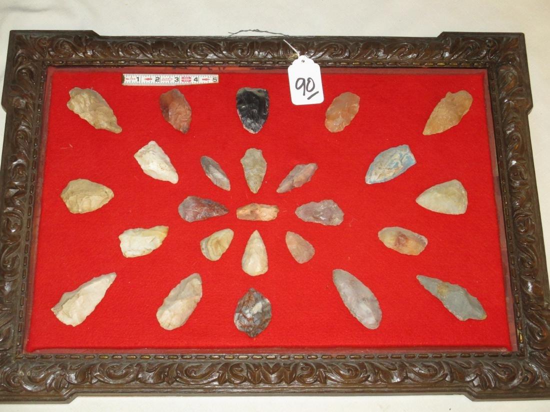 25 arrowheads