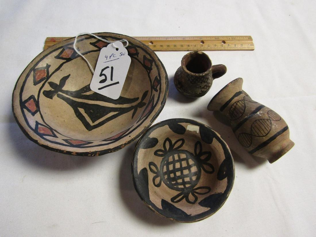 4 pc. Pottery