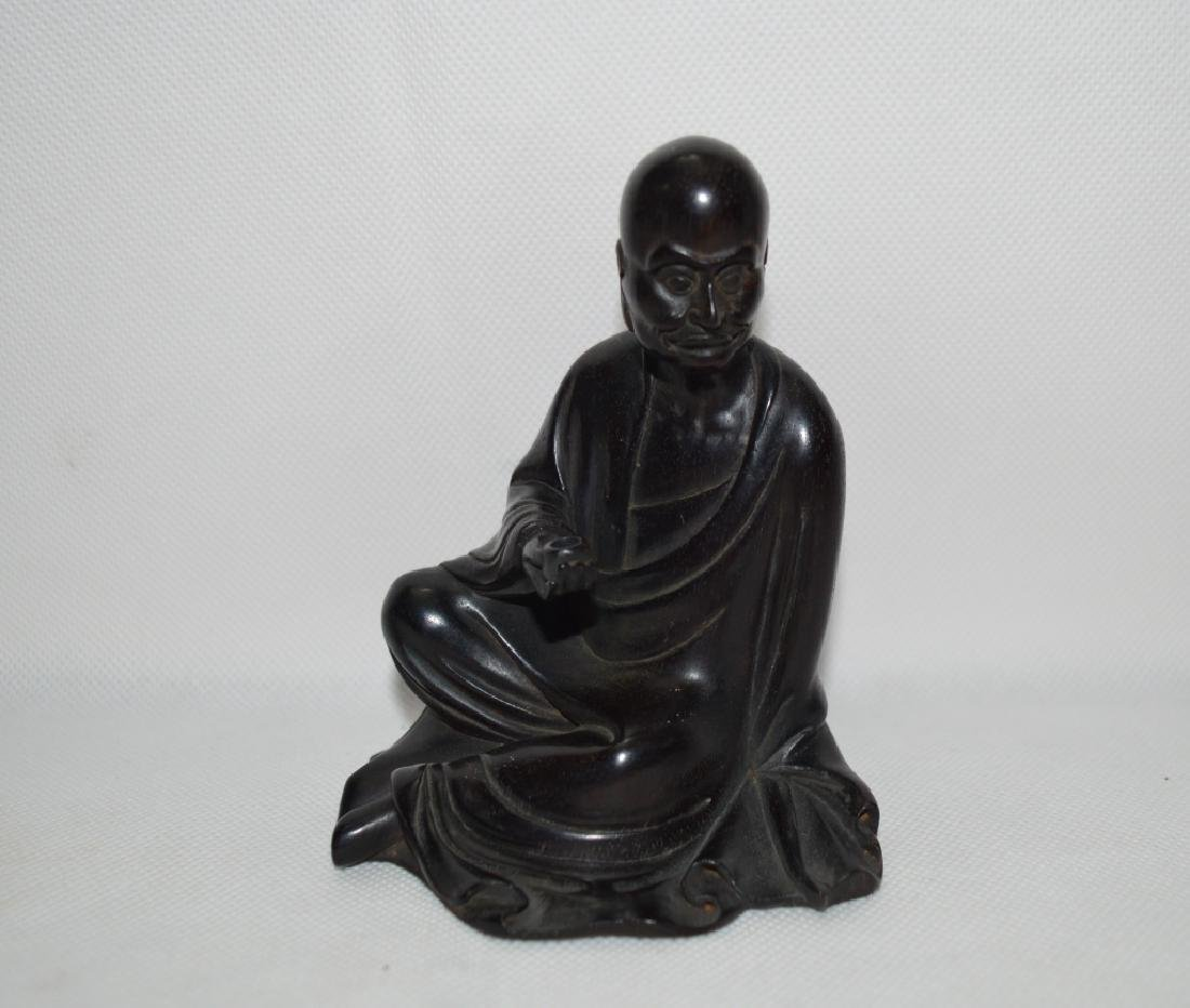 Well Craved Rose Wood Buddha Statue