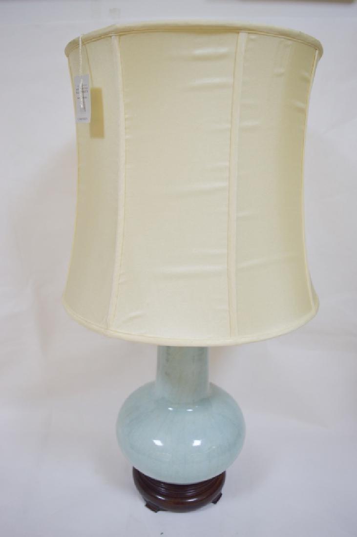 Celadon Porcelain Table Lamp