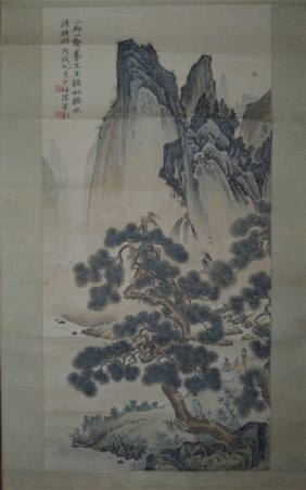 Chinese Mountain landscape Ink Painting