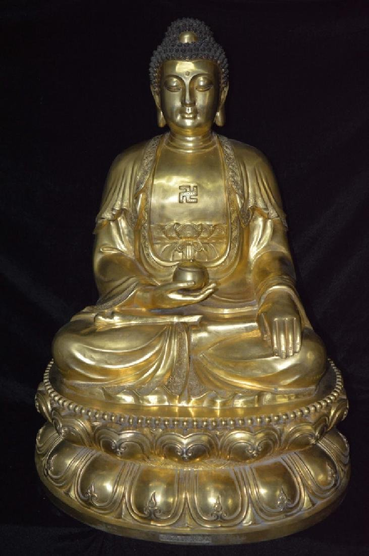 Bronze Gilt Buddha Statue