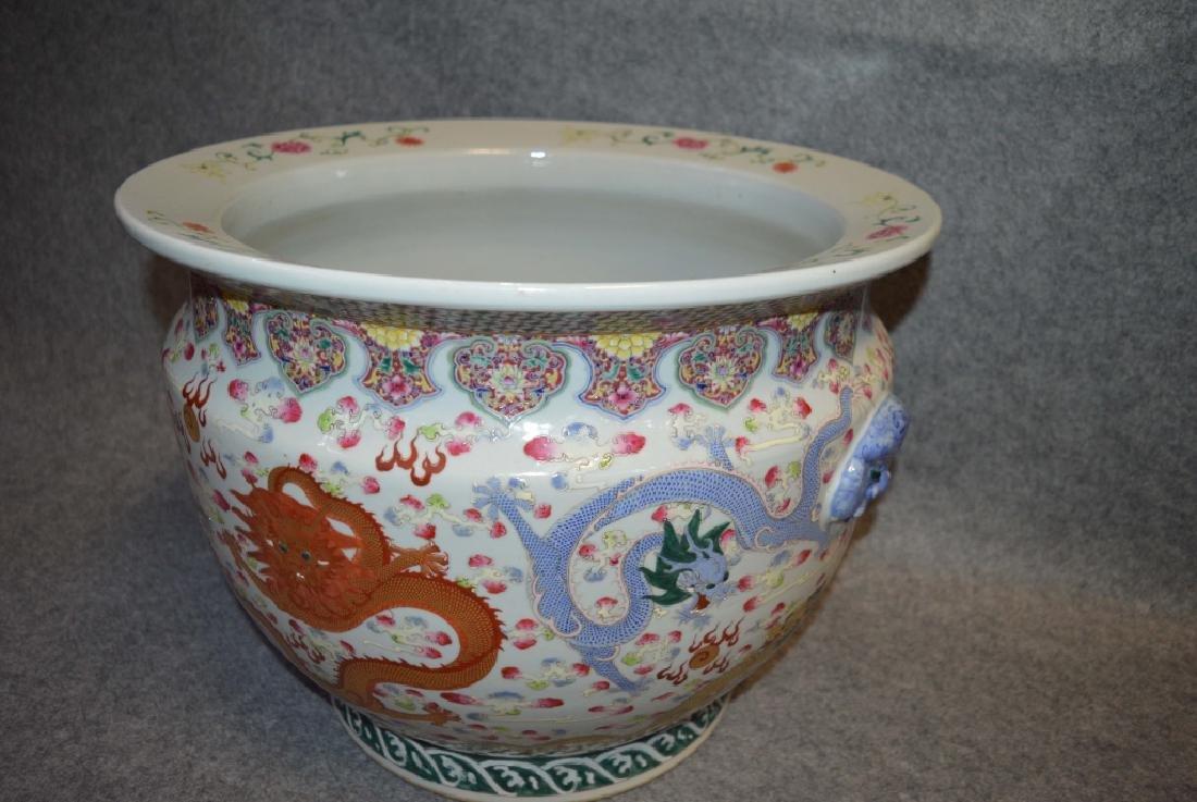 Chinese Famille Rose Porcelain Dragon Jar