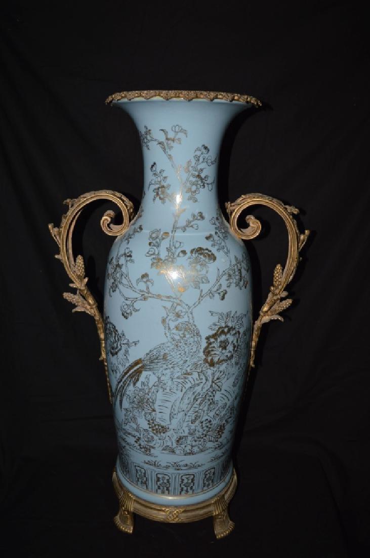 Gilt-Bronze Mounted Blue Glazed Vase