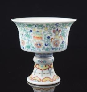 Chinese Doucai Porcelian Chalice