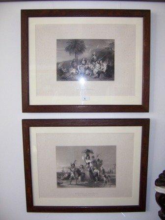 1: Pair Victorian Engravings