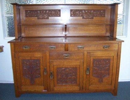 10: Federation/Art Nouveau Oak Sideboard