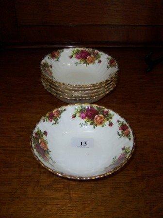 13: Royal Albert 'Old Country Roses'  6 Bowls