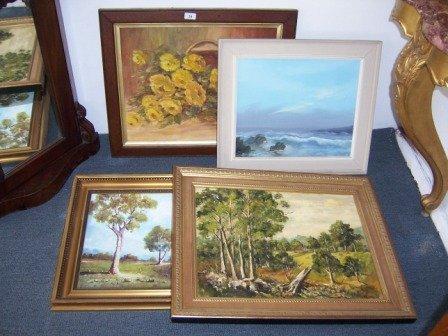 20: 4 Various Australian Oil Paintings