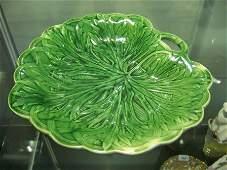 244 Victorian Wedgwood Single Handled Majolica Leaf Di