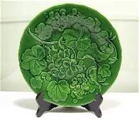 261 Victorian Green Majolica Leaf Plate