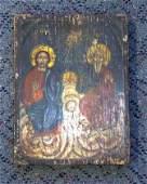 618: 19th C Greek Icon Holy Trinity
