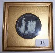 16: Early Wedgwood Pate Sur Pate Framed Plaque