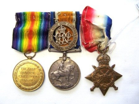 346: Bar of 3 WWI Medals