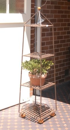 1: Metal 4 Tier Plant Stand & Pot Plant