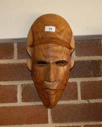 19: Kenyan Carved Wood Mask