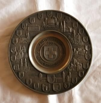 3A: Limited Edition Swiss Commemorative Wall Plate