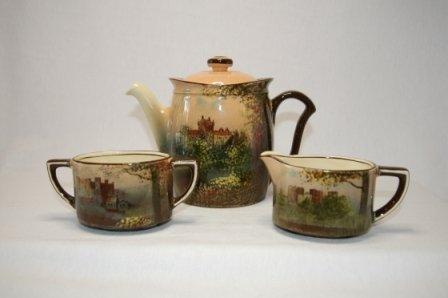 3: Royal Doulton Castles Series 3 Piece Tea Service. Ci
