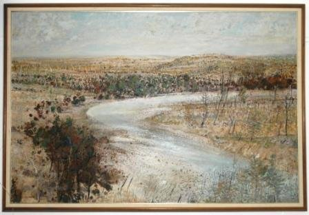 "1006: MILLWARD, Clem (b.1929) ""River Bend, NSW,"" 1978."