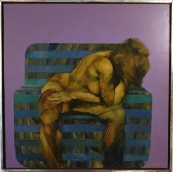 1009: BILLICH, Charles (b.1934) Nude & Chair.