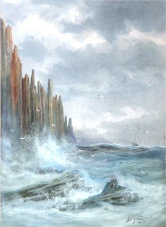 1021: DISTON, James Swinton (1857-1940) Coastal Rocks