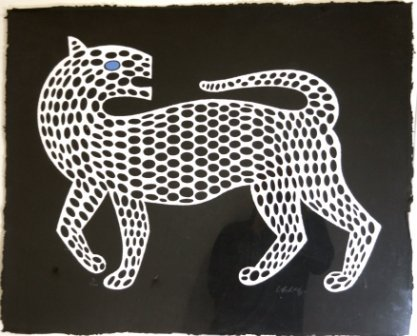 """1287: VASARELY, Victor (1908-1997) """"The Leopard"""""""