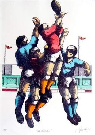 "WILLEBRANT, James (b.1950) ""The Footballers"""