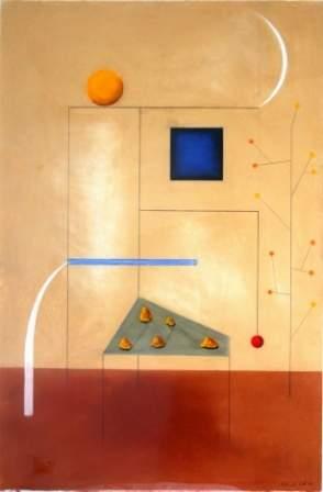 "COLE, Peter D (b.1947) ""Studio with Campaspe Lan"