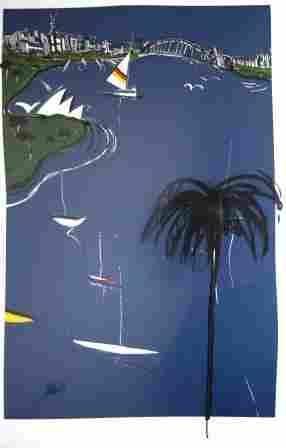 "HENWOOD, Jacqui (b.1946) ""True Blue View II."""