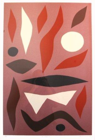 """1019A: COBURN, John (b.1925) """"Bushfire,"""" 1983. Provenac"""