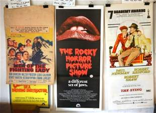 9 Movie Daybills. 'Men of the Fighting Lady,' 'Confe