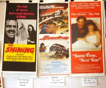 11: 9 Movie Daybills. 'The Shining,' 'Rocky II,' 'Shane