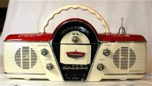Retro Coca Cola Radio 'Classic Cicena'. Casette dec