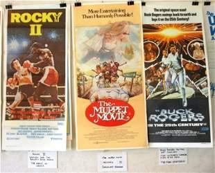 9 Movie Daybills. 'Rocky II,' 'Smokey & the Bandit