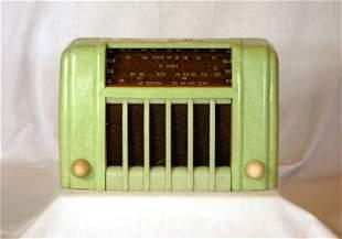 c.1930's ST JAMES Mottled Green Bakelite Mantel Rad